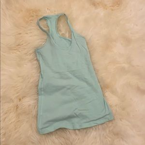 Mint green lulu lemon tank